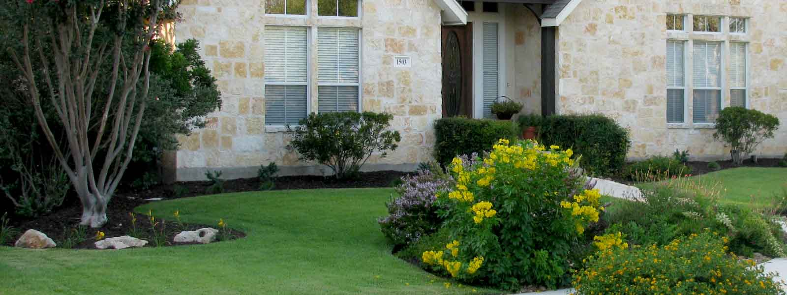 Residential San Antonio landscaping by C & K Lawn Services