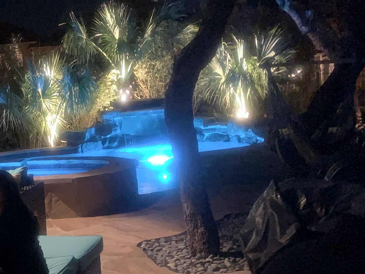 Residential uplight installation in San Antonio by C & K Lawn Services