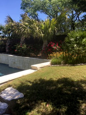 Residential landscaping installation in San Antonio by C & K Lawn Services